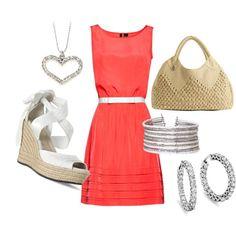 Hampton styled summer, created on Polyvore