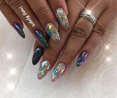 Northern Lights Design #allpowder #notpolish #vietnails #nails #nailswag #naildesigns #nailstagram #nailsoftheday #nailpromote #nailsofinstagram #nailfashion #fashion #fashionblogger #kapolei #hawaii #oahu #hawaiistagram