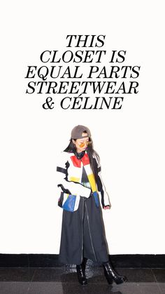 Inside Photographer Christina Paik's New York Home and Closet: The NY & Paris-based photographer whose style is equal parts streetwear & Céline (and counts the OVO crew & Virgil Abloh among her pals). -- Color block Leather Jacket  |  coveteur.com