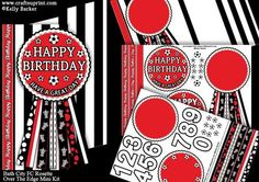 Bath City FC Rosette Over Edge Birthday Father s Day on Craftsuprint - Add To Basket!