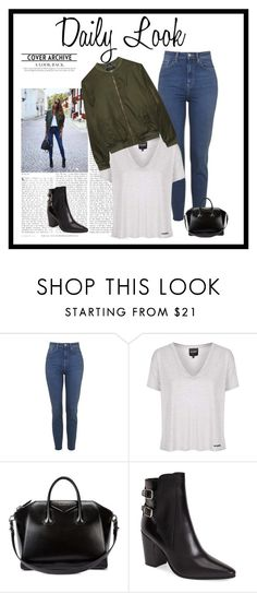 """""""DailyLook."""" by xxbebeautifulxx ❤ liked on Polyvore featuring Topshop, Givenchy, Yves Saint Laurent and Alygne"""