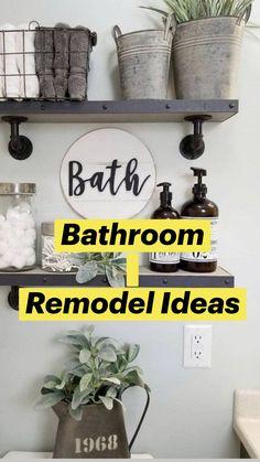 Bathroom Shelf Decor, Bathroom Styling, Bathroom Ideas, Bathroom Renovations, Budget Bathroom, Bathroom Small, Master Bathroom, Decorating Bathroom Shelves, Kitchen Shelf Decor
