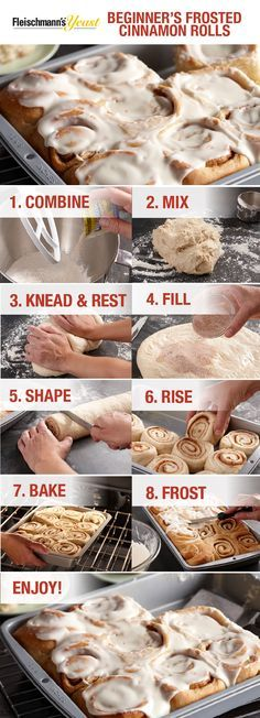 Follow these simple steps for a decadent pan of Beginner's Frosted Cinnamon Rolls and treat your holiday guests to a recipe baked from scratch and made from the heart.