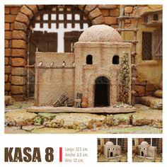 KASAS BELEN Nativity House, Villas, Taj Mahal, Christmas Crafts, Sweet Home, Scene, City, Building, Home Decor