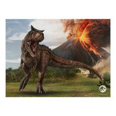 Jurassic World Carnotaurus Poster Jurassic World Movie, Jurassic World Dinosaurs, Jurassic World Fallen Kingdom, Prehistoric Dinosaurs, World Movies, Falling Kingdoms, Picnic In The Park, Outdoor Events, Custom Posters