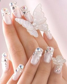 #nailfashion #nails #colorful #shinnynails #brightnails #healthynails #hands #white
