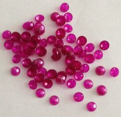 Vintage Sequins in Fun Shapes: Vintage Sequins - 6mm Cupped & Faceted 2 holed Hot Pink Pearlized Finish
