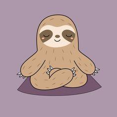 Kawaii Cute Yoga Sloth Carry-All Pouch by wordsberry Cute Wallpaper Backgrounds, Wallpaper Iphone Cute, Cute Wallpapers, Sloth Cartoon, Sloth Drawing, Stickers Kawaii, Framed Art Prints, Canvas Prints, Betty Boop Cartoon