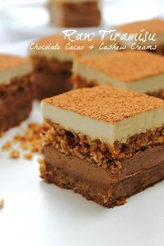 Tiramisu: creamy and crumbly in all the right places! (gf, vegan, no bake) - If you're looking for a delicious dairy-free dessert, look no further! Enjoy this creamy, coffee flavored treat today. #paleo #grainfree #glutenfree #dairyfree #vegan #nobake #dessert #tiramisu
