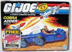 cobra night adder box   Gi Joe Box Only 1988 Cobra Adder Vehicle US Version…