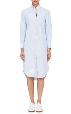 THOM BROWNE Oxford Shirtdress. #thombrowne #cloth #shirtdress