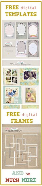 Free digital templates for photographers, digiscrapping, scrapping, LO, Layouts and cards. over at maybe*mej www.maybemej.blogspot.com free-digital-frames1 by maybe*mej, via Flickr