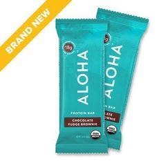 ALOHA Organic Protein Bar, Chocolate Fudge Brownie, 12 Count (Packaging May Vary) Organic Protein Bars, High Protein Bars, High Protein Low Carb, Whey Protein, Chocolate Fudge Brownies, Brownie Bar, Aloha Protein, Low Carb Bars, Organic Plants