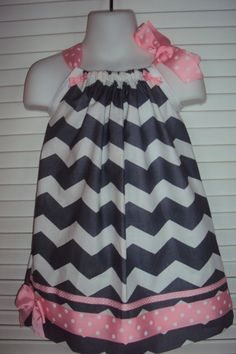 Easter Dress Baby Girls Toddler Girls Gray Chevron by DaintyBoTeek, $26.00