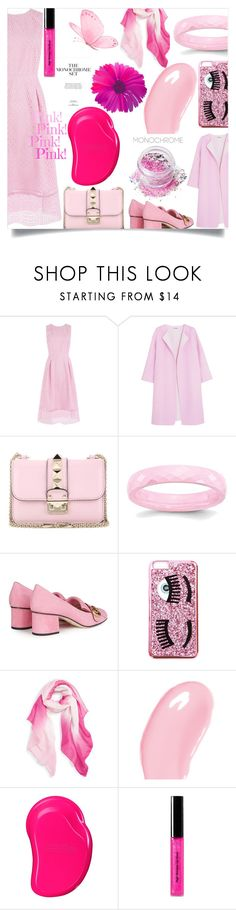 """Color Me Pretty: Head-to-Toe Pink"" by ibur-7snowflakes ❤ liked on Polyvore featuring Warehouse, Jil Sander, Valentino, Gucci, Chiara Ferragni, Caslon, Christian Dior, Tangle Teezer, Bobbi Brown Cosmetics and In Your Dreams"