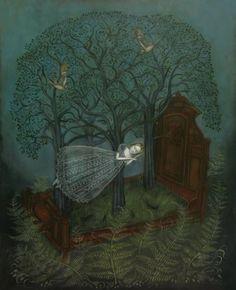 "Kelly Louise Judd Forest Sleep Oil on panel - 16"" x 20"""