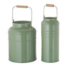 IKEA - SOCKER, Vase sæt med 2, Kan både bruges indendørs og udendørs.Kan stå inden i hinanden og sparer plads, når de ikke er i brug.