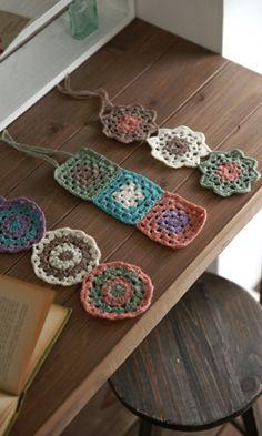 pretty Japanese crochet motifs