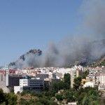 Fotos y pequeño vídeo del importante fuego cerca de El Collao en Alcoy, Alicante, España