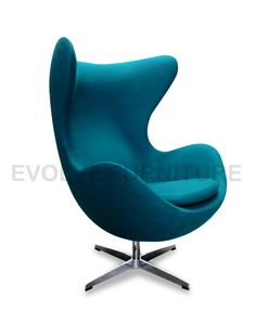 NEW EGG LOUNGE CHAIR   Replica Arne Jacobsen Premium Turquoise Wool Blend |  EBay Http: