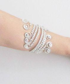 Grecian Inspired Upper Arm Band Boho Arm Bracelet Cuff by gebridal Wedding  Arms ef1e3f597e91