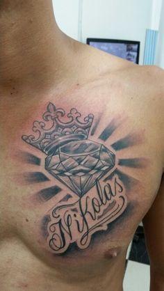 Coroa diamante  e  nome