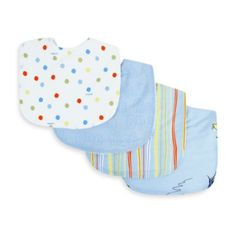 Dr. Seuss™ by Trend Lab® One Fish Two Fish Bib (Set of 4) - buybuyBaby.com