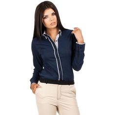 Dark Blue Collar Corporate Shirt LAVELIQ