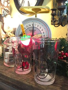 Cool glasses amid bubble lights at Jacqueline's Home Décor. Good way to get in the last minute holiday shopping spirit!  Photo by Christopher Mills.