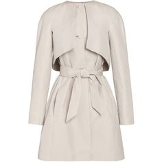 Martin Grant Long Sleeve Trench Coat ($2,235) ❤ liked on Polyvore featuring outerwear, coats, jackets, coats & jackets, pink coat, full skirts, short full skirt, martin grant coat and cotton trench coat