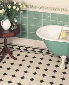 Specialist in victorian bathroom tiles. We offer the most comprehensive range of geometric victorian tiles for bathrooms direct from the UK. Shop here for designer victorian bathroom tiles - UK - London - Medway. Traditional Bathroom, Classic Bathroom, Vintage Bathroom, Victorian Bathroom, Victorian Tiles Bathroom, Classic Bathroom Tile, Vintage Tile, Flooring, Bathroom Flooring