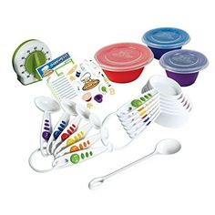 Our Curious Chef Measure and Prep Kit is a superb collection of flawless kitchen tools for young ones to engage beginning cooking. Kit includes: 6 piece measuring spoons and cups set large p. Real Cooking, Cooking Tools, Cooking Supplies, Cooking Games, Cooking Rice, Cooking Classes, Cooking Recipes, Cooking With Toddlers, Thanksgiving Snacks