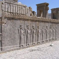Persepolis - the capital of the Persian Empire. It was sanctioned by Cyrus the Great.