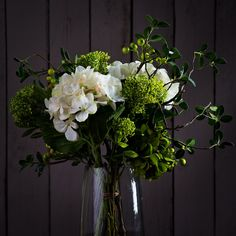 HYDRANGEA AND WINTER BERRY BOUQUET - BOUQUETS - WYLD HOME - 1