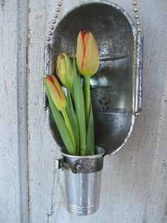 I just love recycled things like this...............  very clever