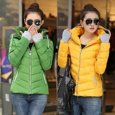 2015 the winter  new women's fashion slim Hooded Coat Korean down padded short cotton jacket female - http://www.aliexpress.com/item/2015-the-winter-new-women-s-fashion-slim-Hooded-Coat-Korean-down-padded-short-cotton-jacket-female/32374610887.html