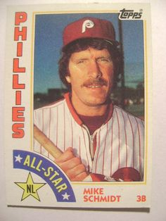 MIKE SCHMIDT-ALL STAR-PHILLIES-1984 TOPPS CHEWING GUM