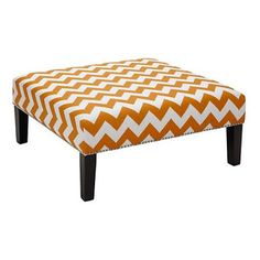 Sam Cocktail Ottoman - Bright zigzags will fill my living room with cheer, no matter the month or year.