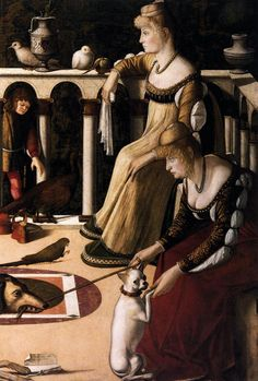 Two Venetian Ladies on a Terrace |  Carpaccio (c1475) - painted in the exact year of The Anatomist.