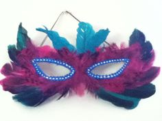 Feathered Marti Gras Mask