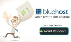 Bluehost has been voted best forum web hosting provider