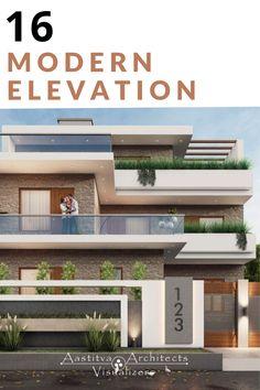 House Architecture Styles, Modern Architecture Design, Facade Design, Modern Buildings, Residential Architecture, Door Design, House Window Design, House Outside Design, 2 Storey House Design