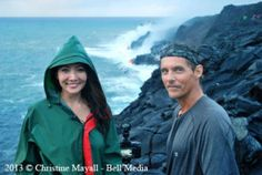 Discovery Channel Canada, Daily Planet lava flow hike show. Ziya Tong and Bryan Lowry