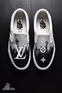 50fe5ce1ddf66 Explore our NEW hand painted Louis Vuitton vans slip on custom sneakers.  Looking for custom