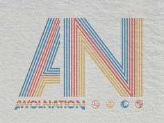 Retro Awolnation designed by Brandon Rike. Connect with them on Dribbble; Apparel Design, Wall Collage, Logo Branding, Logos, Retro Fashion, Symbols, Shapes, Cool Stuff, Fashion Design