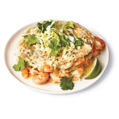 Stacked shrimp enchiladas Making enchiladas the traditional way--filling each tortilla and rolling it up--is a bit of a project for a weeknight. This quicker. Fish Recipes, Seafood Recipes, Mexican Food Recipes, New Recipes, Cooking Recipes, Favorite Recipes, Healthy Recipes, Ethnic Recipes, Recipies