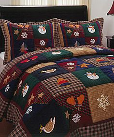 Best Ideas For Sewing Projects Winter Products Christmas Bedding, Christmas Home, Bedding Sets, Quilting Projects, Sewing Projects, Plaid Quilt, Lap Quilts, Queen Quilt, Applique Quilts