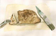 當作是牛排的蘑菇脆麵包
