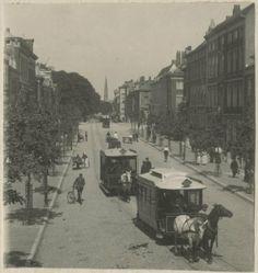 De paardentram op de Herengracht in Den Haag, c. 1900, Haagse Beeldbank nr. 6.14152