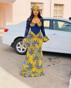 Ankara Body Con Dress African Maxi Dresses, Latest African Fashion Dresses, African Print Fashion, African Attire, Shweshwe Dresses, African Wear, African Style, Ankara Long Gown Styles, Ankara Short Gown